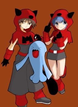 Pokemon Team Magma + Wobbuffet by ConanKun