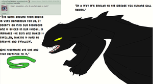 Ask Toothless 52 Eels, they're evil. by Ask--Toothless