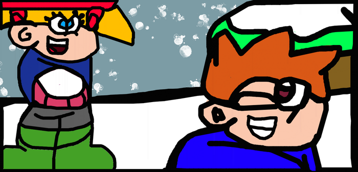 Eric And Becky Plays In A Snowball Fight by Gr8Finity