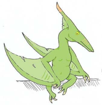 Fat Pteranodon by ookamishichiyou