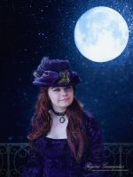 Lady at Moonlight by RogerioGuimaraes