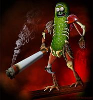 Pickle Rick by Muttlyn