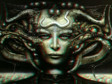Giger Woman 3-D conversion by MVRamsey