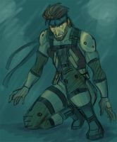 Solid Snake by Oboe