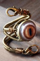 Steampunk Robot Adjustable ring by Daniel Proulx by CatherinetteRings