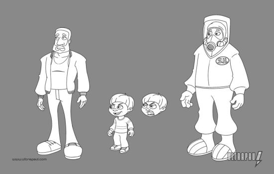 Action Dad Incidental Characters by ultrapaul
