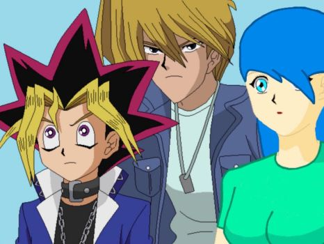 Crystal with Yugi and Joey by GenerosityHeart