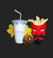 Aqua Teen Hunger Force , in the Real by southpawdragon