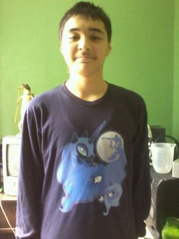 Me and my Three Luna Moon Shirt by NyinxDeLune