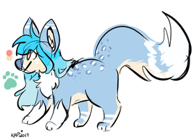 Snowy Feral Ref by Kitzophrenic
