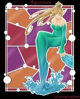 Stained Glass-Aquarius by Aoringo