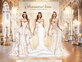 3 Wedding Gowns by AlexandraVeda