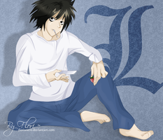 I ate my strawberry cake - L Lawliet by Hatake-Flor