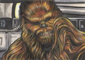 CHEWBACCA 2 SKETCH CARD by AHochrein2010