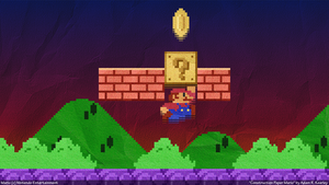 Construction Paper Mario by singularitycomplex