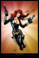 Black Widow Pinup by BrianGraham