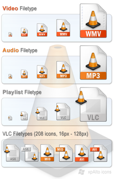 xpAlto VLC Media Player Icons by graywz
