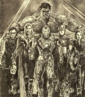 the avengers - all of them by tengari