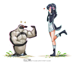 Grape-Kun woo-ing his waifu by MLeth