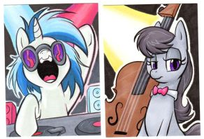 DJ-PON3 and OCTAVIA Cards by RetroStarLing