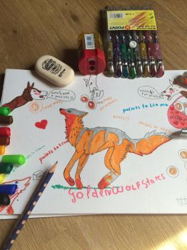 Foxy of points. And llamas:3 by GoldenWolfStars