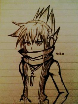 +sketches+ Neku Sakuraba 2 by Azelilia