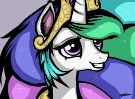 Princess Celestia by TwoFaceCell