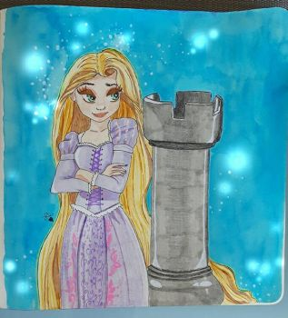 Rapunzel- Tangled by GirlWithPinkKa