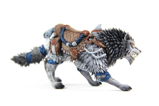 Swift Frostwolf (World of Warcraft sculpture) by ColibriWorkshop