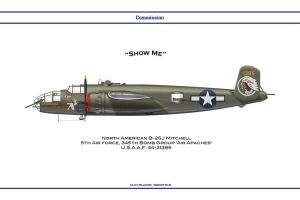 Commission B-25J 1 by WS-Clave