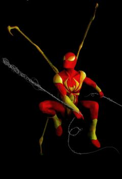 PS colored Iron Spider Sculpt by Spanglerart