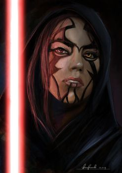 Star Wars girl Sith, sketch. by padraven