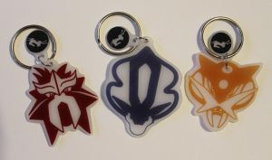 Entei Raikou and Suicune keychains by Nortiker