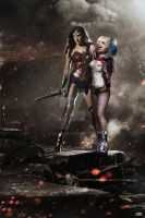 Wonder Woman and Harley Quinn by GOXIII