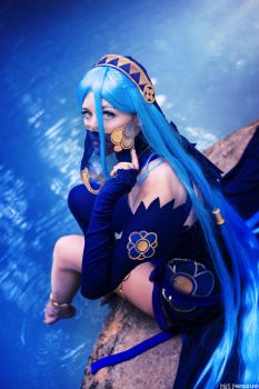 Lost in thoughts all alone - Azura Cosplay by Tinu-viel