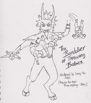 The Bandolier of Throwing Babies by Tamie-Lee