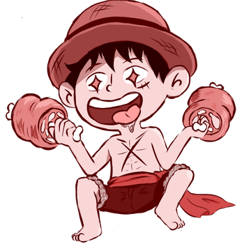 Its A Luffy Eating Meat by Jaykolov
