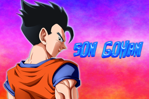 Confident Gohan - remake by carapau