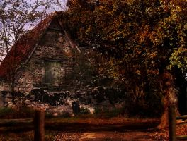 Autumn Cottage by Enlal