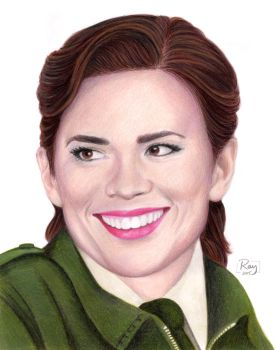 Hayley Atwell as Peggy Carter by RayPelesko