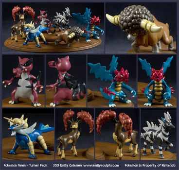 Commission : Pokemon Team - Turner Pack by emilySculpts