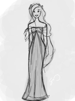 Giselle - quick sketch by Enchanted-Club