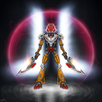 Tahu Nuva, Toa of Fire Evolved by Llortor