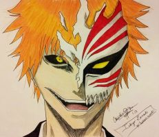 My favorite side of Ichigo Kurosaki (Bleach). by paint-and-pen-key