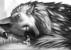 The Last Guardian by kagaminoir