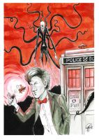 SLENDERMAN VS THE DOCTOR (DOCTOR WHO) by TheCartoonLoon