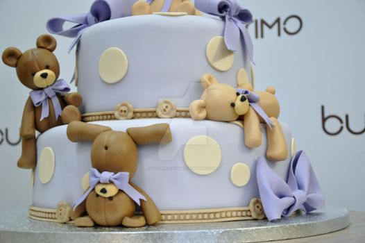 tedy bears fondant cake by Florin-Chis