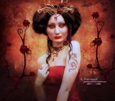 The Lady in red by annemaria48