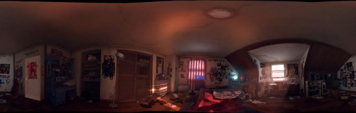 Panorama - Chloe's Room - Life is Strange by discopears
