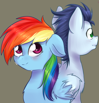 Fanic cover: Rainbows Glows and Rainbows Falls by Chiweee
